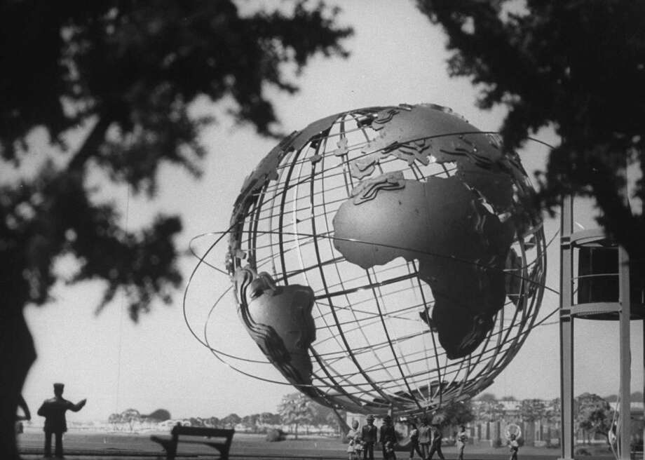 Fifty years ago, on April 22, 1964, the New York World's Fair opened in Queens, giving us (among other things) the world's first Ford Mustang. The symbol of the fair, the Unisphere, is still standing today, though not much else is. Photo: Truman Moore, Time & Life Pictures/Getty Image / Truman Moore