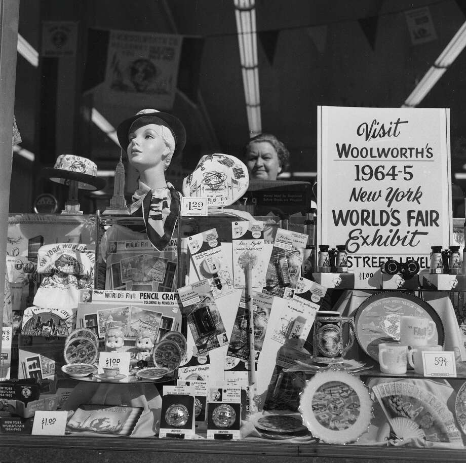 Keepsakes at  the World's Fair in 1964. Photo: Roger Viollet, Roger Viollet/Getty Images / Roger Viollet