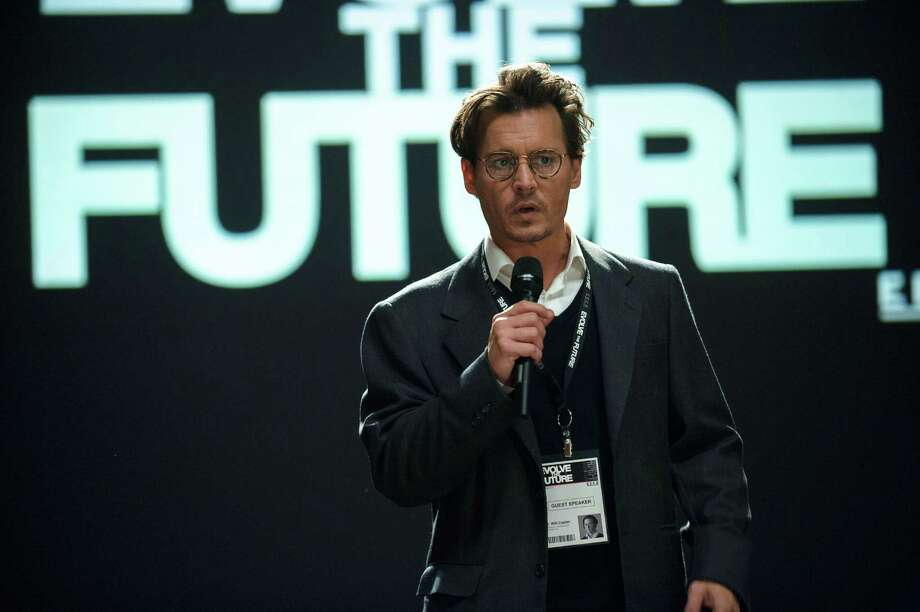 "This image released by Warner Bros. Pictures shows Johnny Depp in a scene from ""Transcendence."" (AP Photo/Warner Bros. Pictures, Peter Mountain) ORG XMIT: NYET146 Photo: Peter Mountain / Warner Bros. Pictures"