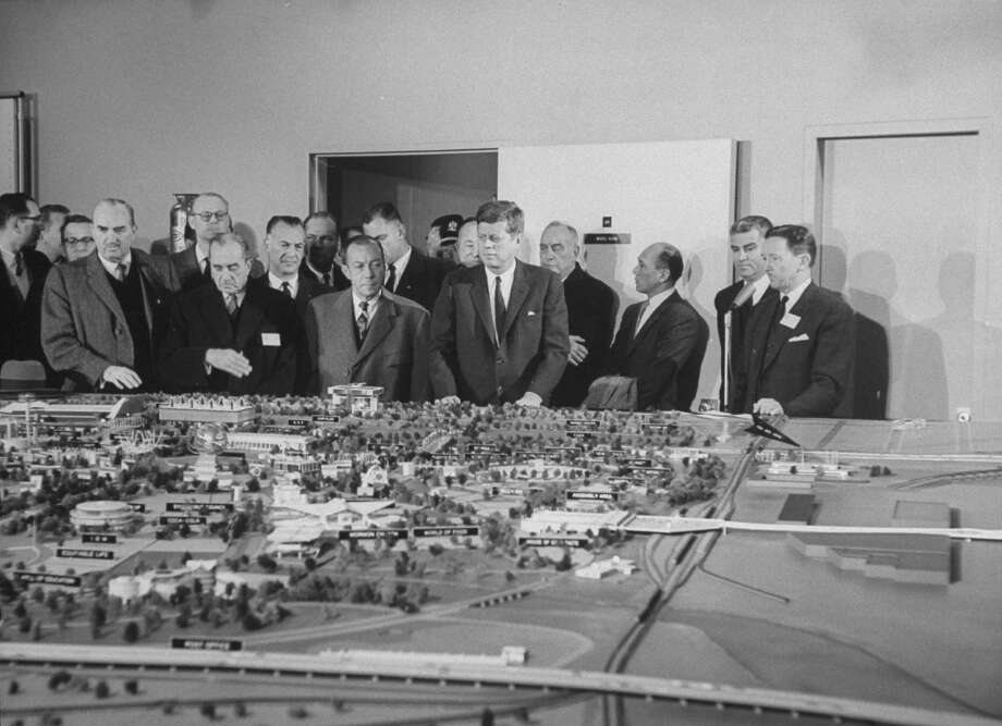 President John F. Kennedy inspects a large model of the upcoming New York World's Fair in 1962. Photo: Bob Gomel, Time & Life Pictures/Getty Image / Bob Gomel