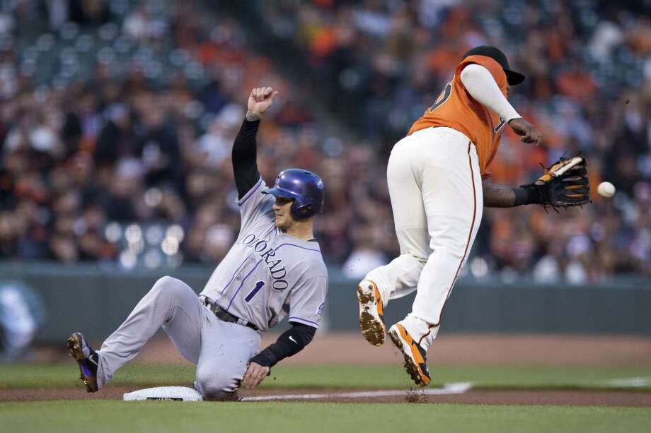 Outfielder Brandon Barnes is playing for the Colorado Rockies, after spending 1½ seasons with the Houston Astros. Photo: Jason O. Watson, Getty / 2014 Getty Images