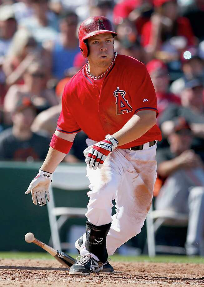 The Los Angeles Angels of Anaheim called up outfielder J.B. Shuck to replace the injured Josh Hamilton one week into the 2014 season. Photo: Ross D. Franklin, AP / AP
