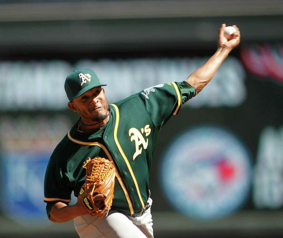 Reliever Fernando Abad is pitching for the Oakland Athletics, his third organization in as many seasons.  Photo: ANDY CLAYTON-KING, AP / FR51399 AP
