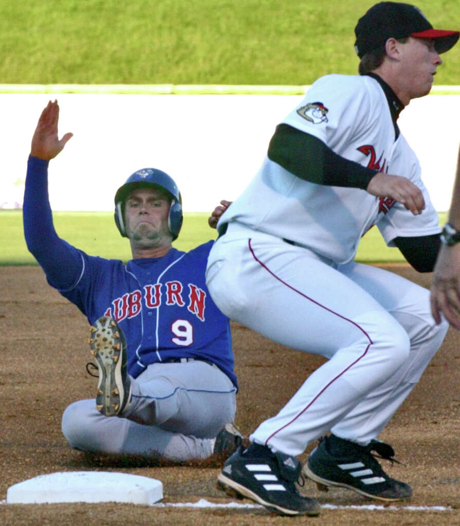 Third baseman Chris Johnson made his professional baseball debut with the ValleyCats in 2006, playing 60 games in Troy after the Astros drafted him in the fourth round of the draft that season. Photo: Shannon DeCelle