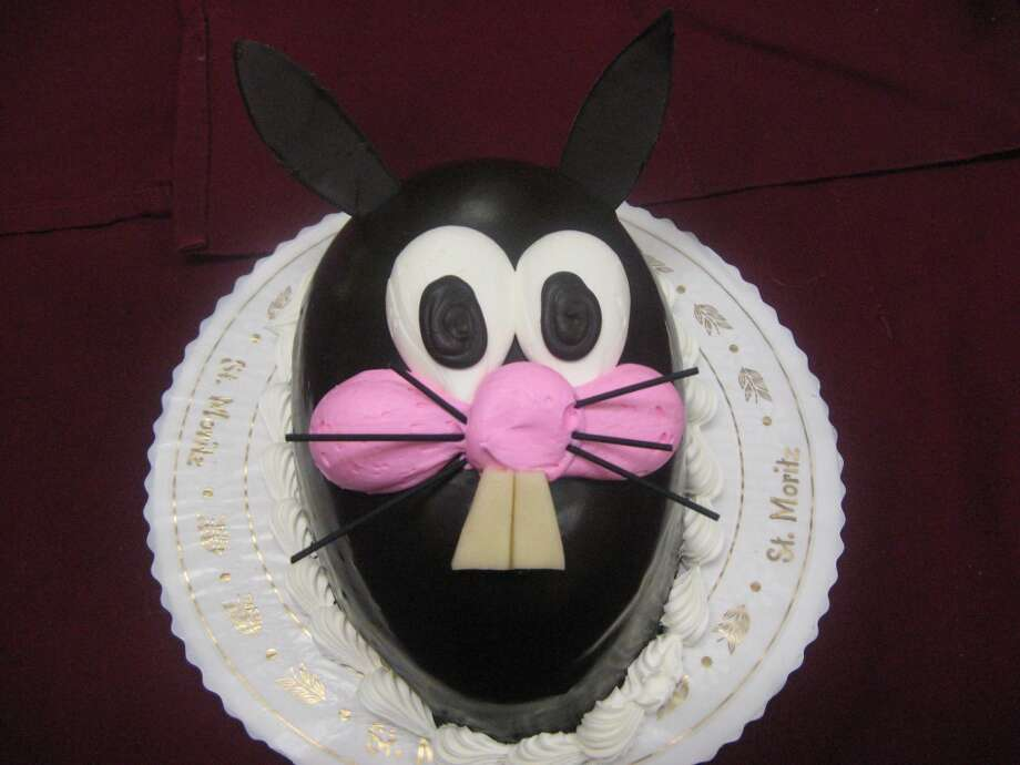 Bunny cake from St. Moritz Bakery in Greenwich: Chocolate mousse cake.Visit the site  St. Moritz Bakery, 383 Greenwich Ave, Greenwich
