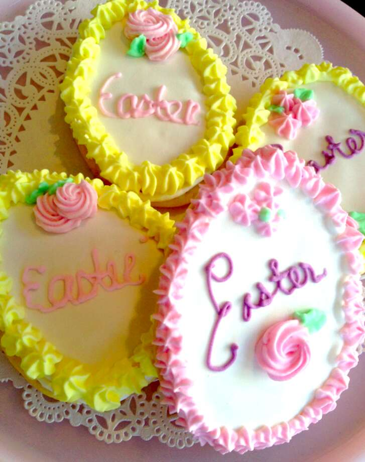 Easter Sugar Cookies from Sweet & Simple in Fairfield: Cookies come in fun shapes including bunnies, lambs, carrots and eggs. They can be ordered as party favors or trays.   See the full Easter menu  Sweet & Simple, 75 Hillside Road, Fairfield