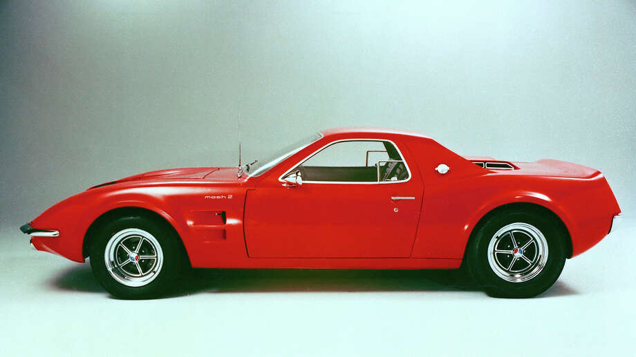 With the Mustang having already set sales records following its launch in 1964, Ford design chief Gene Bordinat and the Special Vehicles Group decided to try rearranging the pieces for the Mach 2 concept. The 289 Hi-Po V8 was shifted from the front to behind the two seats to evaluate the layout as a possible successor to the Shelby Cobra. Despite its mid-engine layout, the Mach 2 retained the long-hood, short-deck proportions of a Mustang. Unfortunately, the Mach 2 never went much beyond the auto show circuit. Photo: Ford Motor Company