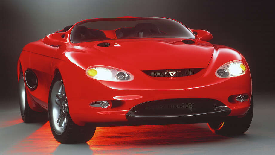 The Mach III provided the first public hints of the new design direction that was coming for the fourth-generation Mustang. While classic elements like the grille pony badge, side scoops and tri-bar taillamps were included on the 1994 Mustang, the two-seater layout and the low-cut speedster windshield have never been part of a regular production Mustang. Photo: Ford Motor Company