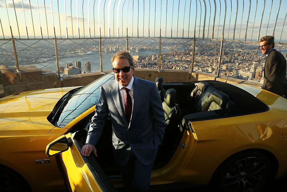 More than 300 horses on top of the Empire State Building:Ford CEO Bill Ford gets out of a new 2015 Mustang on the observation deck of the Empire State Building in New York. How did it get there, you ask? The car had to be brought up in parts and assembled on location for a two-day promotion celebrating the 2014 New York International Auto Show. Photo: Spencer Platt, Getty Images