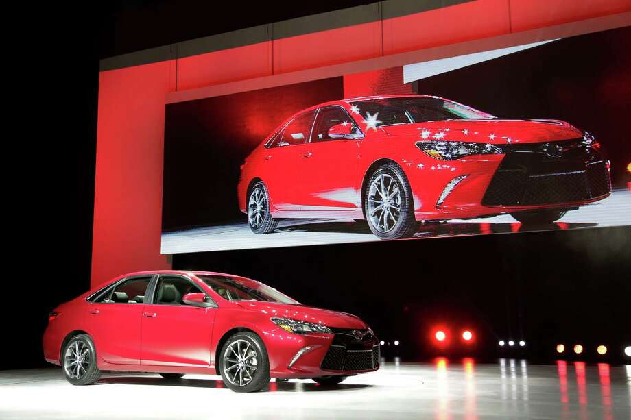 The 2015 Toyota Camry is introduced at the New York International Auto Show, Wednesday, April 16, 2014, in New York. (AP Photo/Mark Lennihan) ORG XMIT: NYML110 Photo: Mark Lennihan / AP