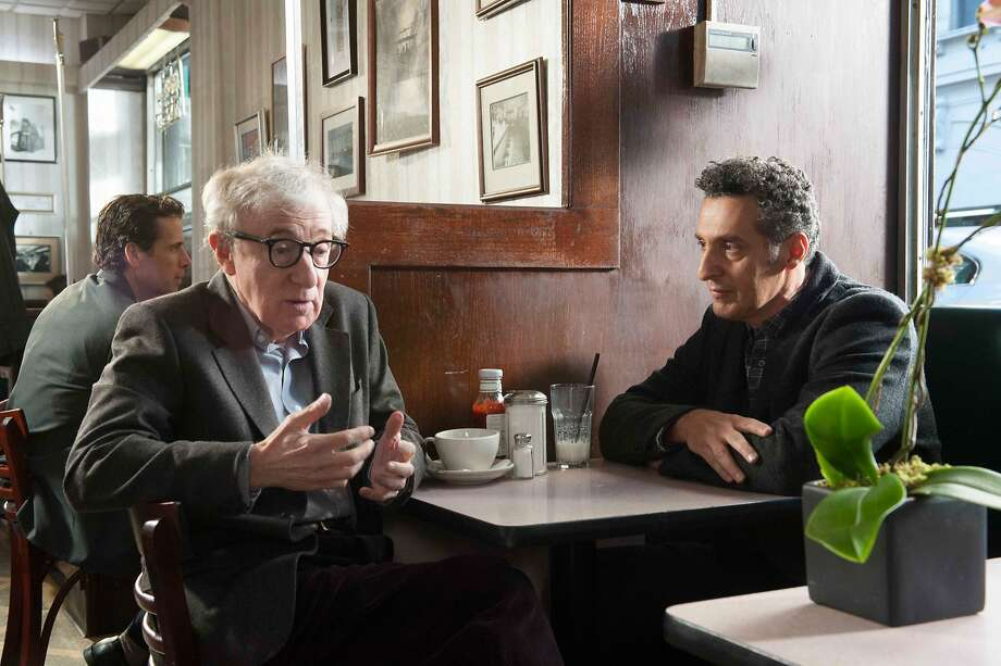 "Woody Allen (left) works in ""Fading Gigolo"" with John Turturro. Photo: Jojo Whilden, Associated Press"
