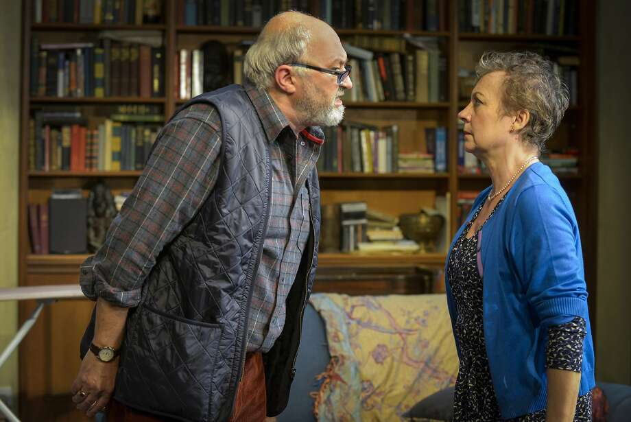"""Paul Whitworth, left, is the loud, opinionated academic patriarch Christopher and Anita Carey is his wife Beth  in Nina Raine's """"Tribes"""" at Berkeley Repertory Theatre Photo: Mellopix.com"""