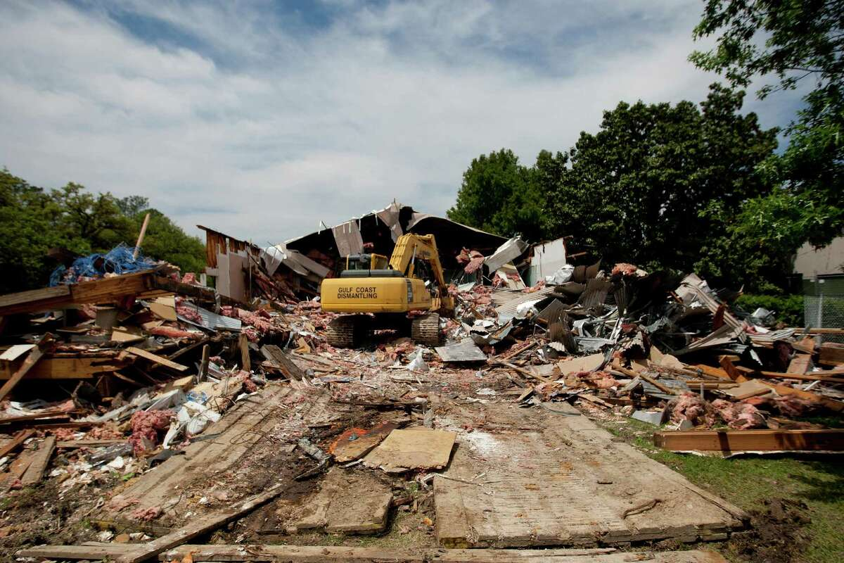 "Rice University's Martel Center or ""Art Barn"" is being demolished."
