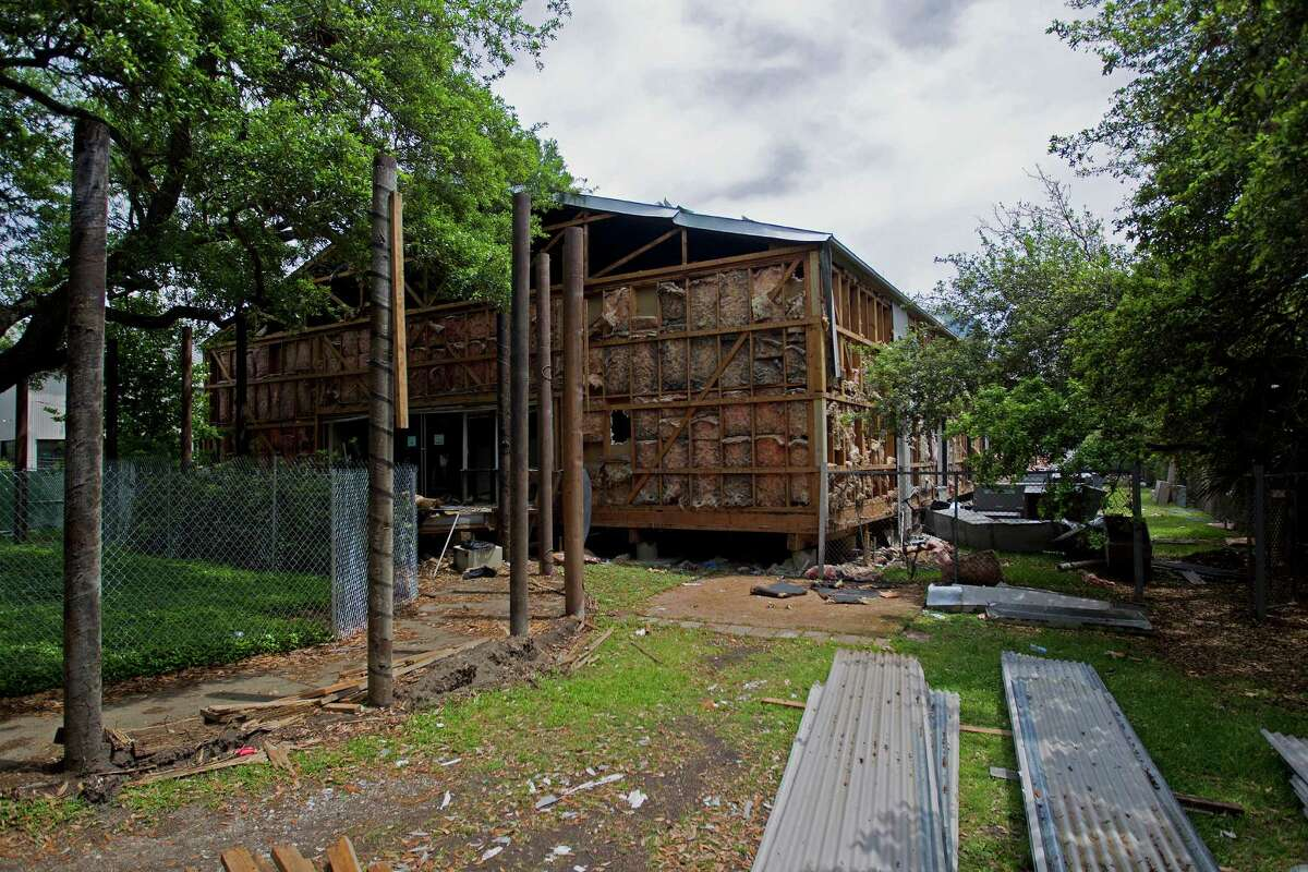 """A group is saving the exterior corrugated metal panels of Rice University's Martel Center or """"Art Barn.""""."""