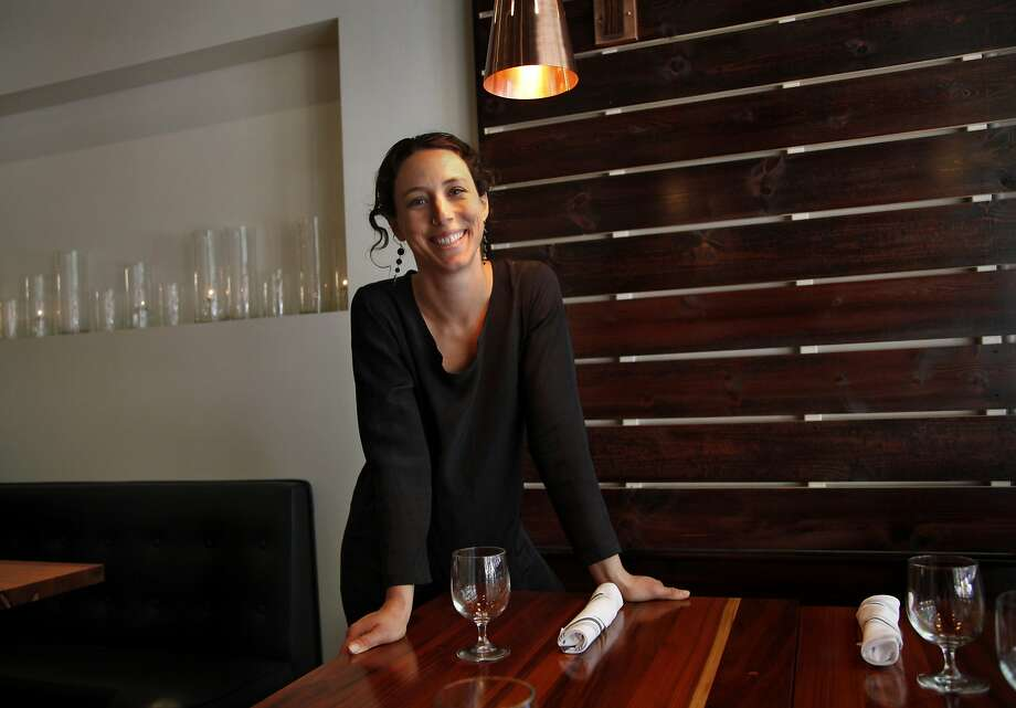 """Chef Kendra Baker in the dining room of her new full-service restaurant Assembly in Santa Cruz, where, she says, """"the food scene has really blossomed."""" Photo: Preston Gannaway, Special To The Chronicle"""