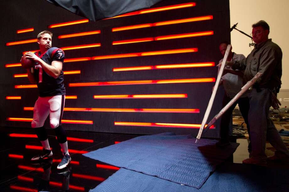 "Texans quarterback Case Keenum poses while shooting a segment for the ""We Are Texans"" promotional campaign Photo: Brett Coomer, Houston Chronicle"