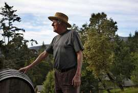 Jerold O'Brien started the Silver Mountain Winery, the area's first organic winery thirty years ago. He poses for a portrait at the winery in the Santa Cruz Mountains, Calif., on Thursday, April 10, 2014.