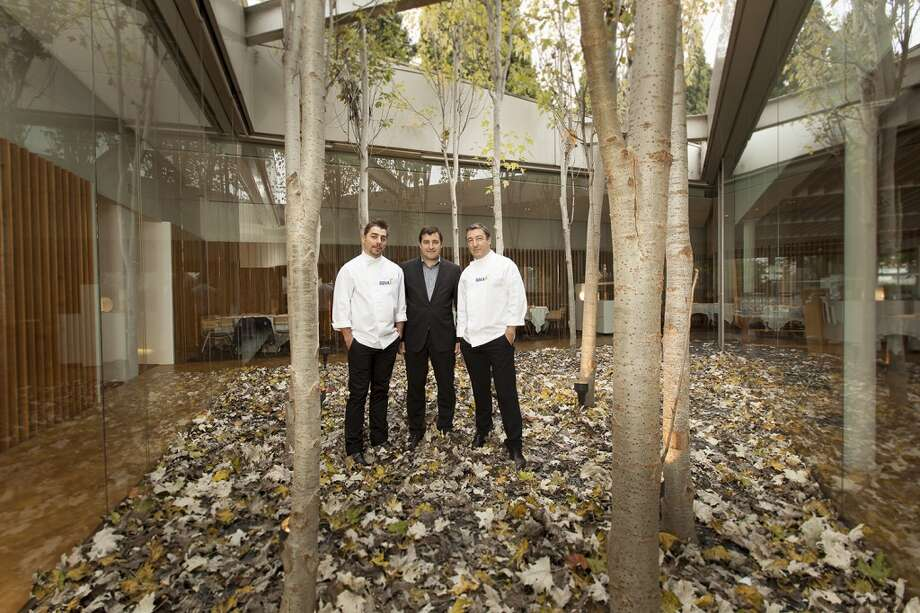 The Roca brothers -- Jordi, Josep and Joan, left to right -- run El Celler de Can Roca in Girona, Spain, the number one restaurant on the influential San Pellegrino list of the World's 50 Best Restaurants. They are shown here in the courtyard of their restaurant. (Photo: BBVA Compass)