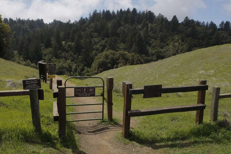 Entrance gate to Long Ridge Open Space Preserve along South Peninsula's Skyline Photo: Tom Stienstra