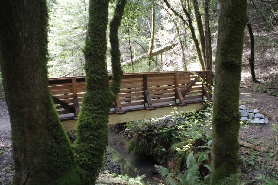 A half mile in, you reach new bridge over Peters Creek Photo: Tom Stienstra