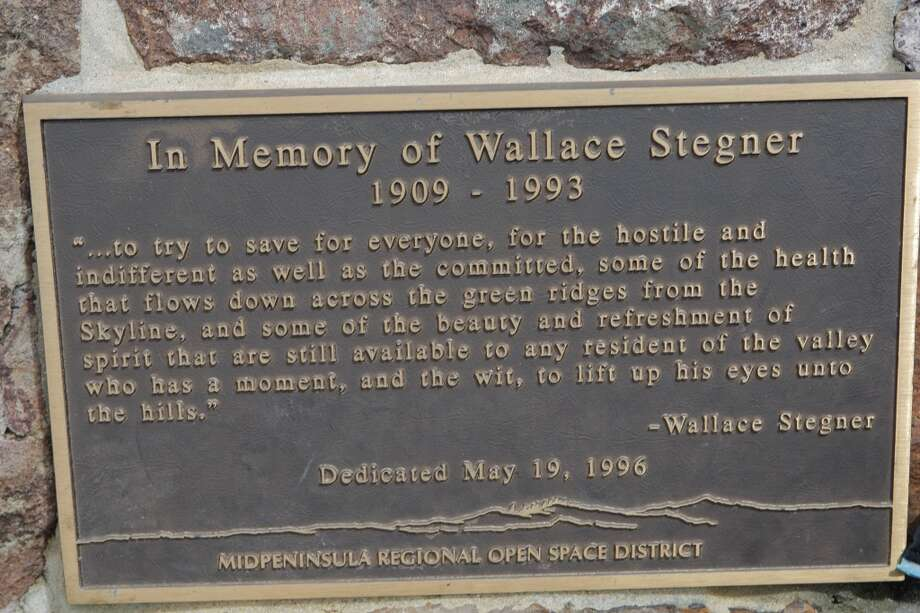 Plaque at Stegner Bench Photo: Tom Stienstra