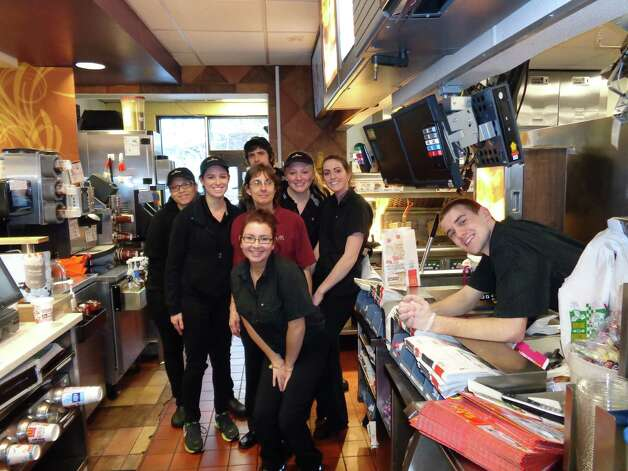 On April 8, local McDonald's restaurants hosted more than 40 schools in the annual McTeacher's Night fundraising event. Participating restaurants donated 20 percent of proceeds from the food and beverage sales during the 4:30 to 7 p.m. event to a local school. Here, the crews works the Western Avenue location to support Westmere Elementary School, Guilderland. (Submitted)