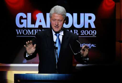 NEW YORK - NOVEMBER 09:  Former U.S. President Bill Clinton speaks onstage the The 2009 Women of the Year hosted by Glamour Magazine at Carnegie Hall on November 9, 2009 in New York City.  (Photo by Larry Busacca/Getty Images for Glamour Magazine) *** Local Caption *** Bill Clinton Photo: Larry Busacca, Getty Images For Glamour Magazin / 2009 Getty Images
