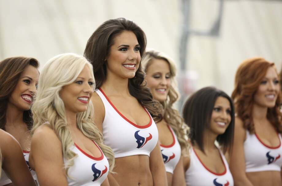Fewer and fear girls remain as they what to hear their name called. Fifty girls showed up on April 16, 2014 at the Houston Texans practice facility in Houston, Texas to see which 35 girls made the 2014-2015, Houston Texans Cheerleading Team. Photo: Thomas B. Shea
