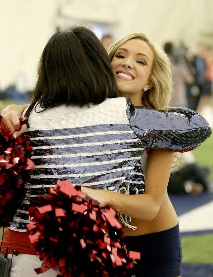 A newly announced cheerleaders is called. Fifty girls showed up on April 16, 2014 at the Houston Texans practice facility in Houston, Texas to see which 35 girls made the 2014-2015, Houston Texans Cheerleading Team. Photo: Thomas B. Shea