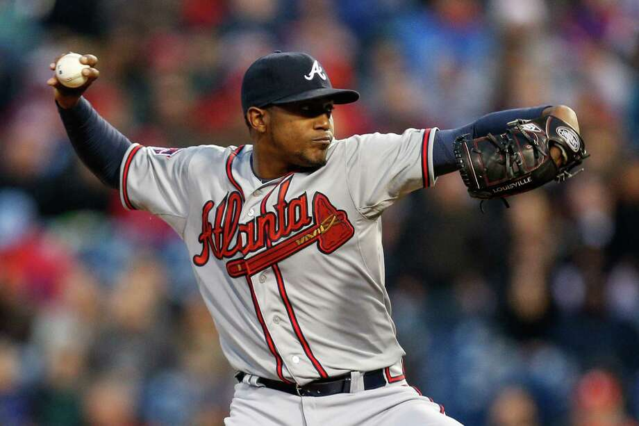 PHILADELPHIA, PA - APRIL 16: Starting pitcher Julio Teheran of the Atlanta Braves throws a pitch in the second inning of the game against the Philadelphia Phillies at Citizens Bank Park on April 16, 2014 in Philadelphia, Pennsylvania. All uniformed team members are wearing jersey number 42 in honor of Jackie Robinson Day. (Photo by Brian Garfinkel/Getty Images) ORG XMIT: 477580147 Photo: Brian Garfinkel / 2014 Getty Images
