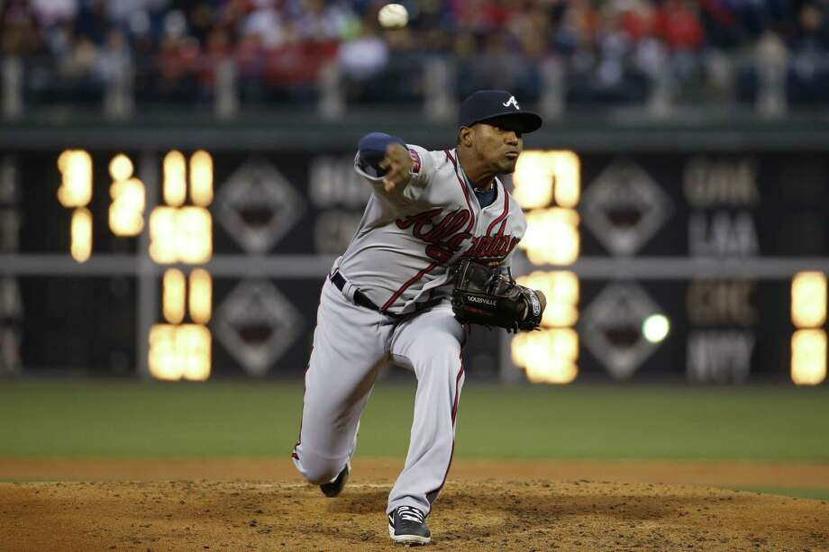 Atlanta starter Julio Teheran pitched a shutout in Philadelphia, allowing only three hits. Photo: Matt Slocum / Associated Press / AP