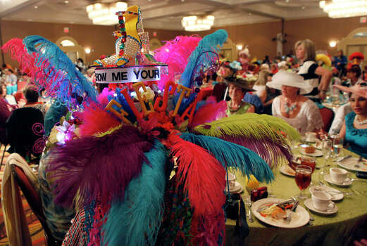 Tye Wichert made his hat in three weekends and was the only one in the gentlemen category April 16, 2014 at The Woman's Club of San Antonio's Fiesta Hat Contest, Luncheon and Fashion Show at the Omni San Antonio Hotel at the Colonnade. Photo: Cynthia Esparza, For The San Antonio Express-News / For the San Antonio Express-News