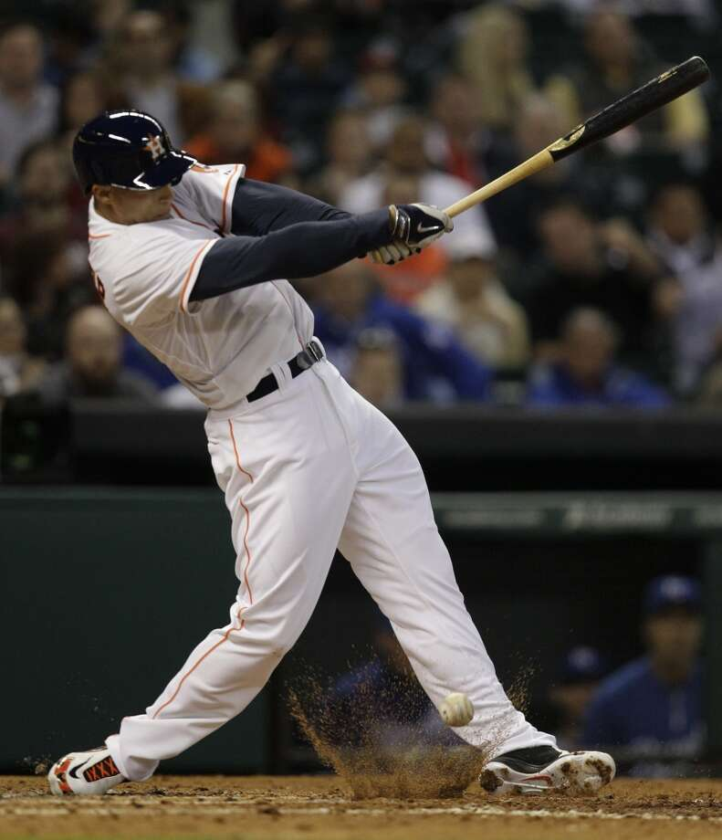 April 16: Royals 6, Astros 4 (11)  George Springer hits a single. Photo: Melissa Phillip, Houston Chronicle