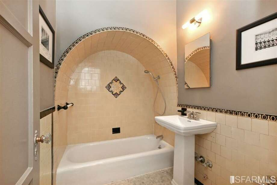 The original 1929 bathroom tile is still intact. Photo: MLS