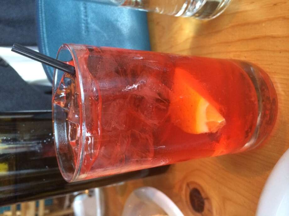 Great to have a Campari and soda on the menu at Dopo ($7)