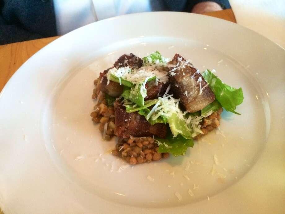 Pork confit with lentils ($12)