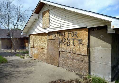 One of the homes that is still boarded-up in West, Texas, Tuesday, April 1, 2014. West experienced widespread devastation following a fertilizer plant explosion last year. (Max Faulkner/Fort Worth Star-Telegram/MCT) Photo: Max Faulkner, Various (SCC) / Fort Worth Star-Telegram