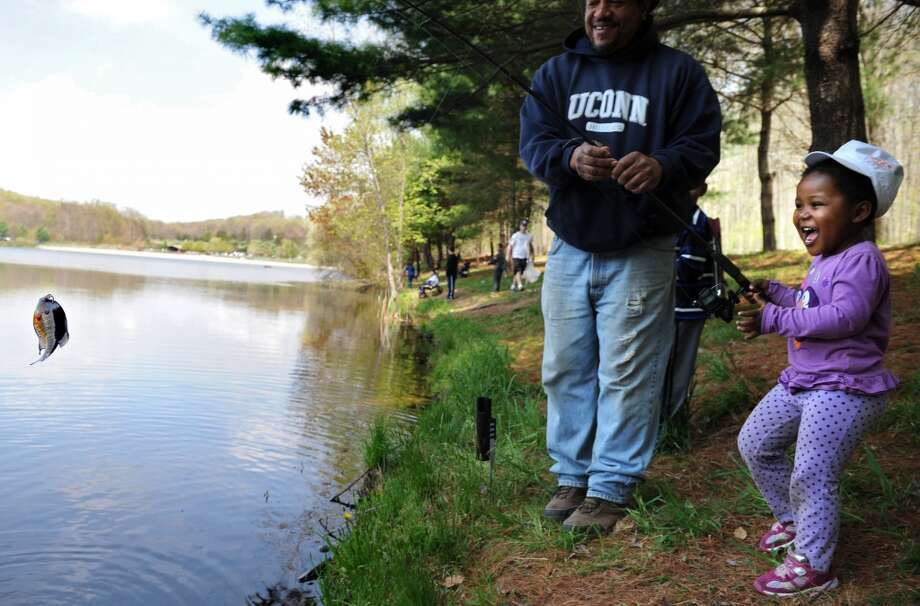 The opening day of trout fishing season is Saturday, and it's supposed to be a sunny day. Find out where the local Trout parks are. Photo: Autumn Driscoll