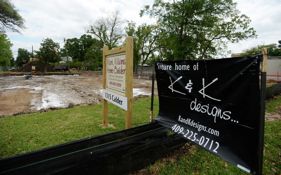 K&K Designs will is constructing a new headquarters at the corner of Calder Avenue and Ewing Street. Kathy Bachelot, who operates the company with a team of family and friends, says it should be about a year before the facility -- already named The Laurels -- will be up and running. Photo taken Wednesday, 4/16/14 Jake Daniels/@JakeD_in_SETX Photo: Jake Daniels / ©2014 The Beaumont Enterprise/Jake Daniels
