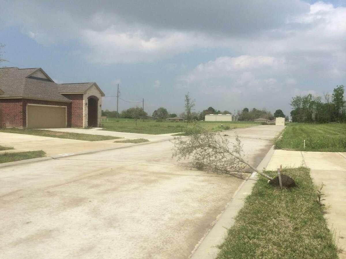 The partially built Southview Villas neighborhood near Hobby Airport.