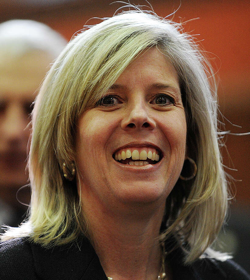 State Rep. Kim Fawcett, D-133, shown at the General Assembly in February, is expected to officially announce her candidacy for the state Senate seat in the 28th Dsitrict this year. Photo: File Photo / Fairfield Citizen