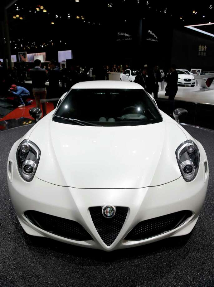 An Alfa Romeo 4C is displayed at the New York International Auto Show in New York, Thursday, April 17, 2014. Photo: Seth Wenig, AP / AP