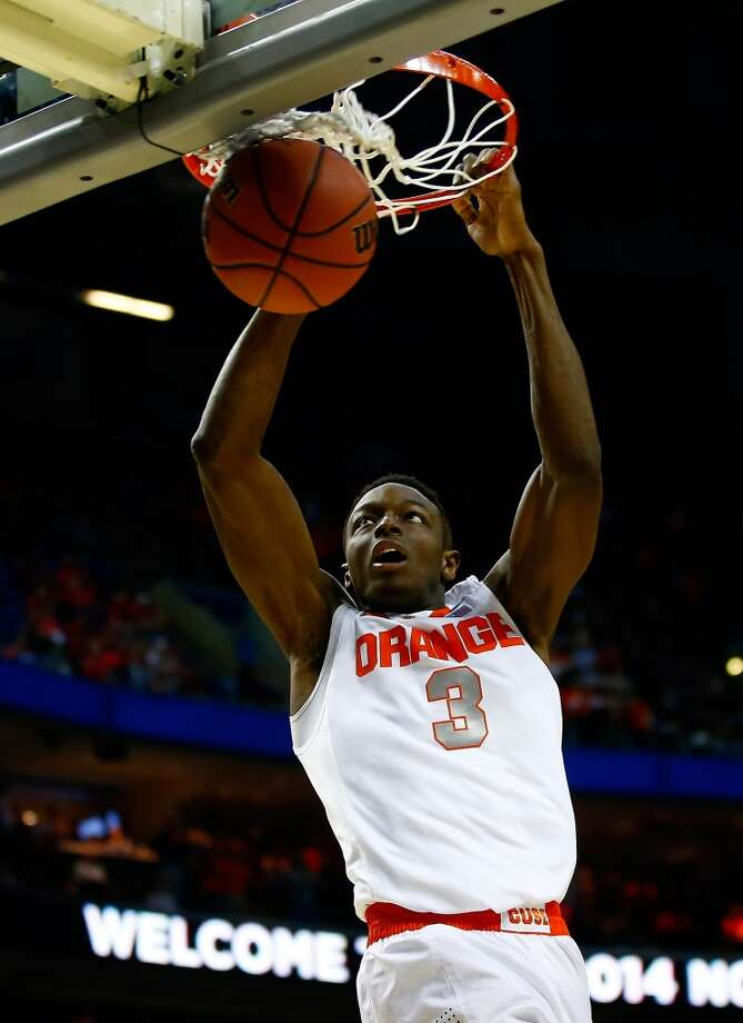 Jerami Grant  Position: Forward  Ht./Wt: 6-8/210 lbs  School: Syracuse  Classification: Sophomore  2013-14 stats: 12 points, 7 rebounds, 1 steal, 1 block per game Photo: Jared Wickerham, Getty Images
