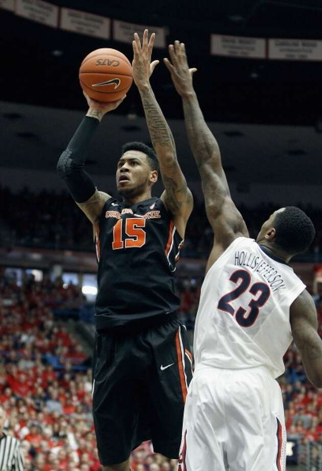 Eric Moreland  Position: Forward  Ht./Wt: 6-10/218 lbs  School: Oregon State  Classification: Junior  2013-14 stats: Nine points, 10 rebounds, 2 blocks, 1 assist per game Photo: Ralph Freso, Getty Images
