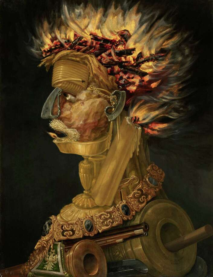 "Giuseppe Arcimboldo's ""Fire"" (1566) is among the masterpieces coming to the Museum of Fine Arts, Houston. Photo: Kunsthistorisches Museum, Vienna / ONLINE_YES"