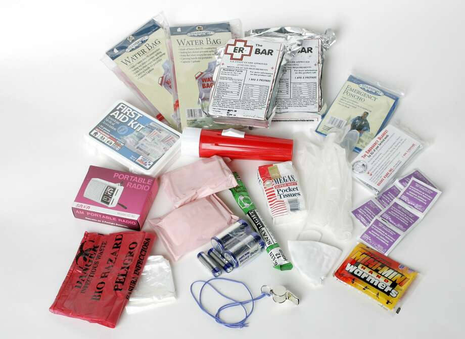 Learn how to make your own earthquake preparedness kit with the list of must-haves down below. Photo: Katy Raddatz, SFC