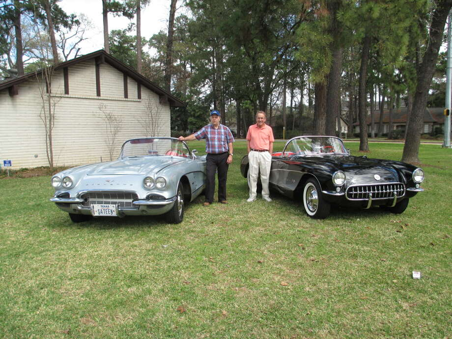 Joe Beatty (left) has owned his 1961 Corvette 47 years, and John J. McIlvoy has owned his 1957 Corvette FI for 52 years.