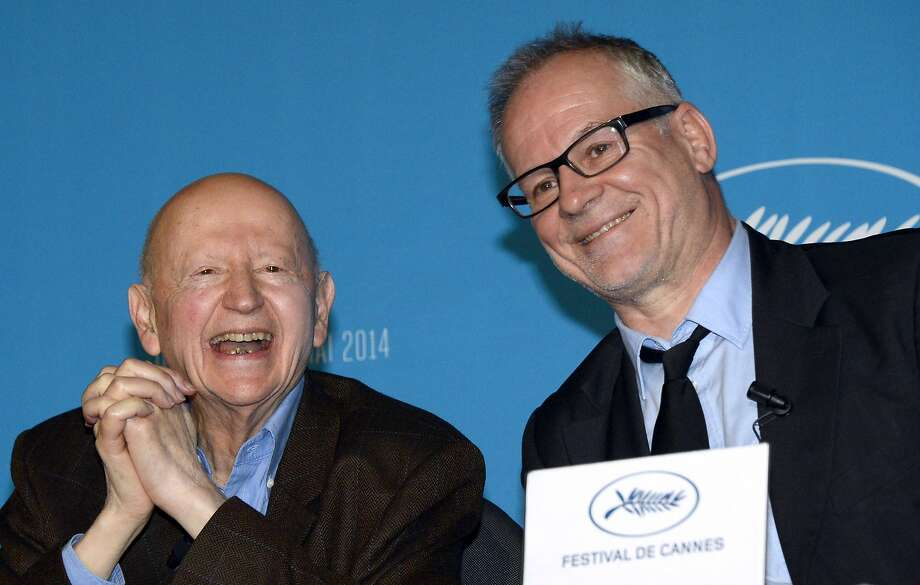 Cannes Film Festival President Gilles Jacob (left) and Director-General Thierry Fremaux announce the contenders. Photo: Bertrand Guay, AFP/Getty Images