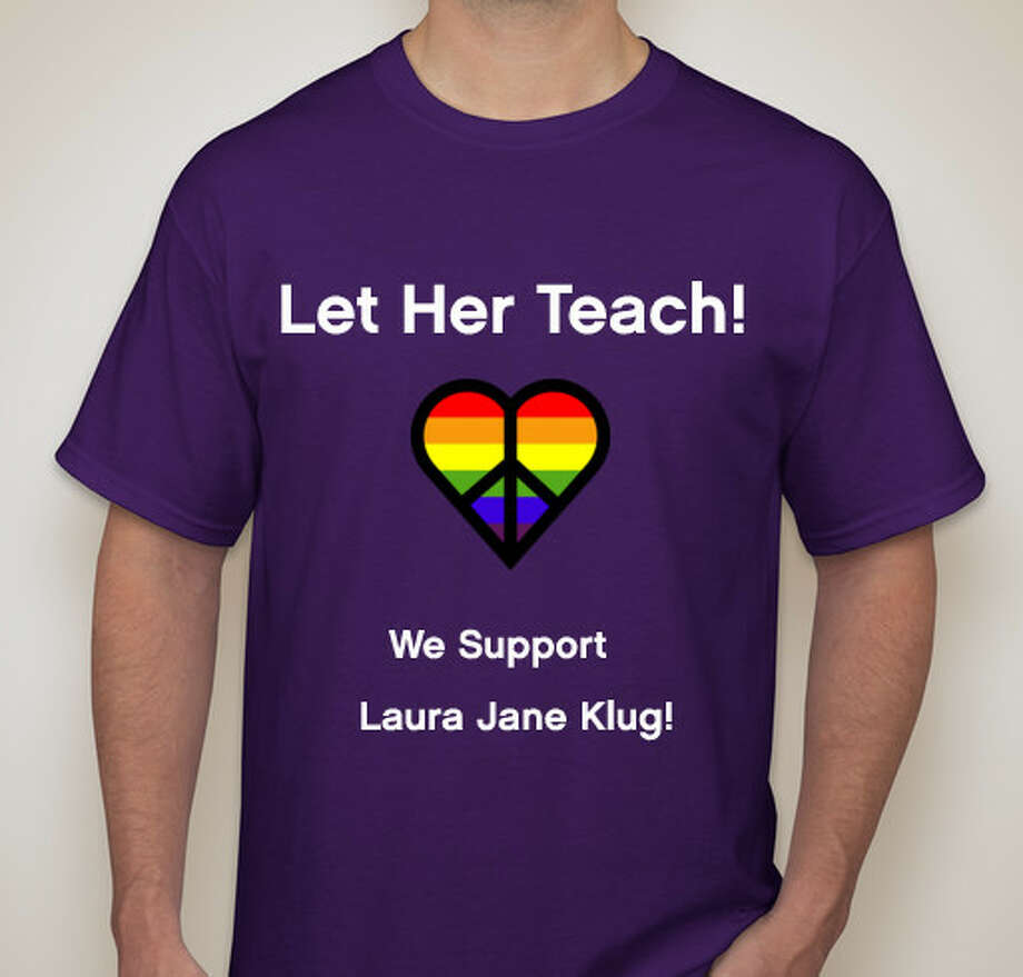 A supporter of Laura Jane Klug keeping her job, Kristin Johnson, created a site Thursday morning for those interested in donating funds to help Klug out at fundly.com/let-her-teach. Purple shirts that read  Let her teach! We support Laura Jane Klug!  are also being sold at booster.com/let-her-teach.