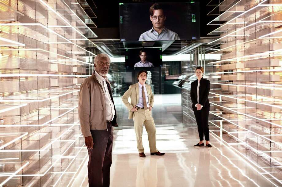 "This image released by Warner Bros. Pictures shows Morgan Freeman, from left, Cillian Murphy, and Rebecca Hall in a scene from ""Transcendence."" (AP Photo/Warner Bros. Pictures, Peter Mountain) ORG XMIT: NYET142 Photo: Peter Mountain / Warner Bros. Pictures"